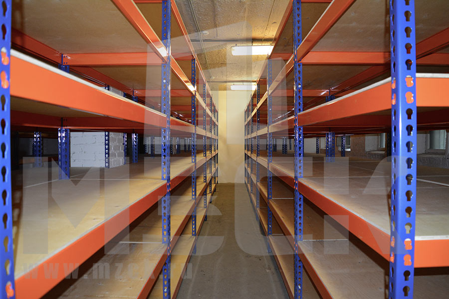 Стеллажи  Профи-Т на склад производственной компании для хранение тканей №3