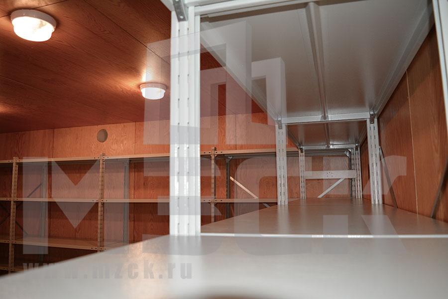 Стеллажи  ТСУ для подсобного помещения на дачном участке №4