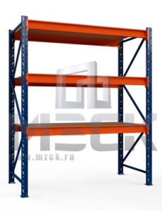 Металлический стеллаж Оптима 2000x1250x785.3.600.Ф
