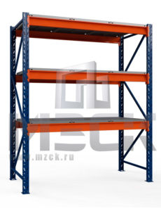 Металлический стеллаж Оптима 3000x1530x785.3.900.М