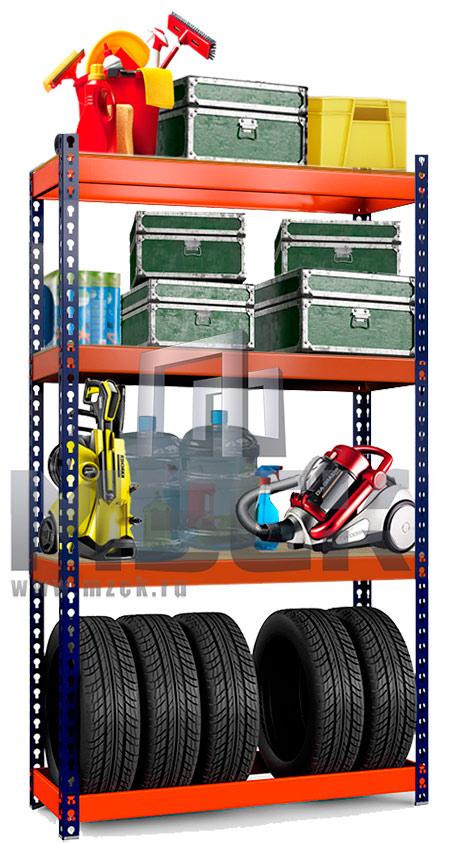 Металлический стеллаж Профи-Т для Шин 2500x1540x500.1к.+3п.350