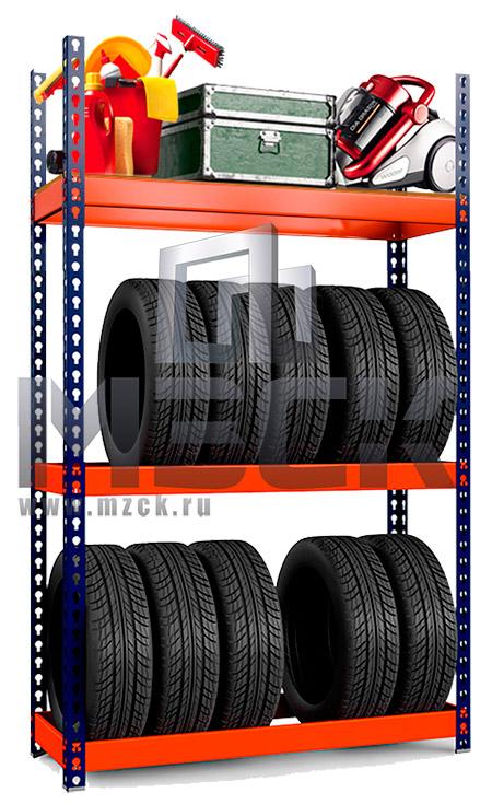 Металлический стеллаж Профи-Т для Шин 2000x1265x500.2к+1п.350