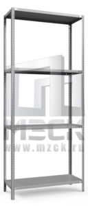 Металлический стеллаж ТС-Лайт 1800x1000x500.4.120