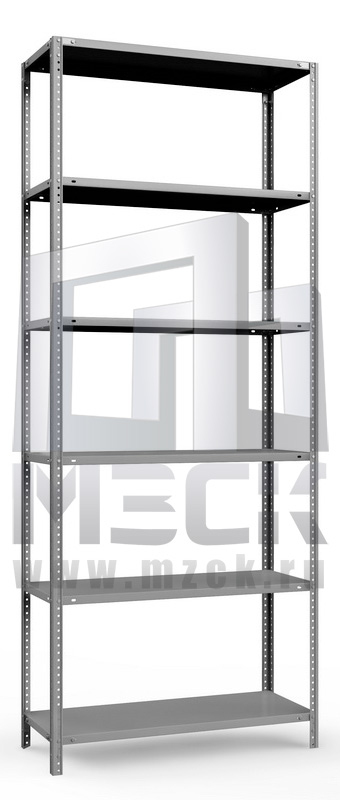 Металлический стеллаж ТС-Лайт 3000x1200x300.6.120