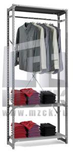 Металлический стеллаж ТСУ для Одежды 2000x1260x500.3п+1ш
