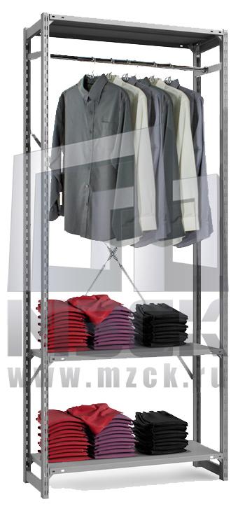 Металлические стеллажи для одежды