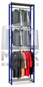 Металлический стеллаж ТСУ для Одежды 3500x760x600.3п+3ш