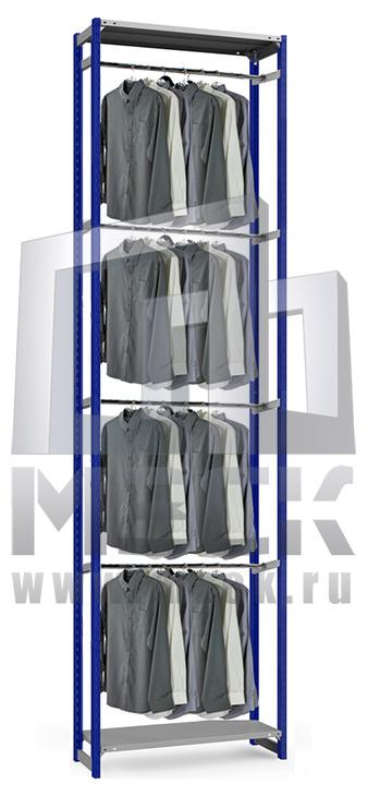 Металлический стеллаж ТСУ для Одежды 3500x760x500.3п+4ш