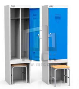 Металлический шкаф для одежды ШРЭК 21-530 ВСК