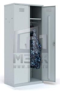 Металлический шкаф для одежды ШР-22 L500