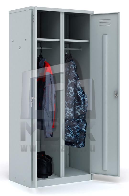 Металлический шкаф для одежды ШР-22 L800